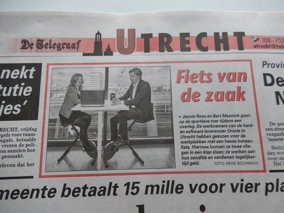 Oracle's active workstations made the Telegraaf Utrecht