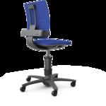 Bureaustoel 3Dee actieve stoel blauw alle accessoires bij je zit-sta bureau koop je online bij Worktrainer.nl