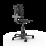 Bureaustoel Leer 3Dee stoel   actieve beweegstoelen bezoek Worktrainer.nl