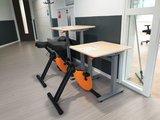 Studydesk met Deskbike