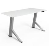 Y-desk zit-sta bureau Zilver