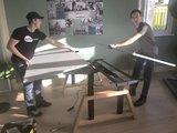 Monteren dubbel desk