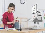 Flexidesk grijs met monitorarm