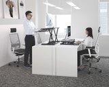 Updesk Cross - Zit-sta verhoger bureauverhoger staan achter je bureau | ergonomisch kantoormeubilair | Worktrainer.nl