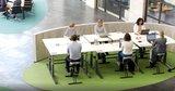 Fietsend vergaderen l Deskbike bureaufiets Oranje| Fiets je fit achter je bureau | Worktrainer.nl