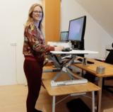 Updesk XL Gasveer Wit hoog | kies voor een gezonde werkplek bezoek Worktrainer.nl