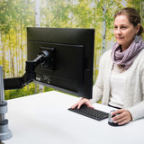 Monitorarm R-Go Caparo Enkel | Accessoires voor je werkplek | Worktrainer.nl