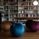 Zitbal Vluv Varm | Velvet zitbal voor thuis en op kantoor | Worktrainer.nl