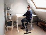 Thuiswerken wordt nog leuker met een Verstelbaar Elektrisch Zit-Sta Bureau Steelforce 670 - Worktrainer.nl