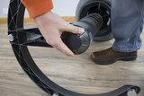 Swopper Comfort Aeris Zit-Sta Beweegkruk actief veer Microvezel worktrainer.nl
