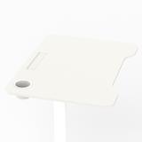 Klein gasveer zit-sta bureau - Single Leg Desk - 1 poot wit
