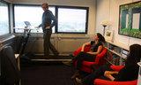 Loopband met Gasveer Sta Bureau  - Walkdesk WTB600 Worktrainer.nl