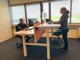 Elektrisch Dubbel zit-sta bureau - Honmove Duo - Stabiel dubbel bureau