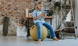 Vluv Stov zitbal sittingbal officeball officechairball Worktrainer.nl worktrainer.com