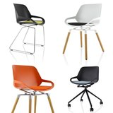 Numo design chair cushion yellow | seat cushion | active furniture | numo with wooden legs | numo cushion | worktrainer.com