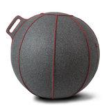 vluv-velt-grey-red   ergonomische zitballen   blijf in beweging op werk   Worktrainer.nl