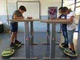 fitdisc school | balanceren achter je bureau | Worktrainer.nl