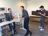 Leonard Hofstra - l Deskbike bureaufiets | Fiets je fit achter je bureau | Worktrainer.nl