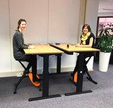 Deskbike oranje l Deskbike bureaufiets | Fiets je fit achter je bureau | Worktrainer.nl