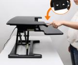 Updesk cross - bureau verhoger Zit-Sta | kies voor een gezonde werkplek bezoek Worktrainer.nl
