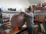 oppompen vluvbal| ergonomische zitballen | blijf in beweging op werk | Worktrainer.nl