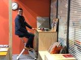 Deskbike wit l Deskbike bureaufiets | Fiets je fit achter je bureau | Worktrainer.nl
