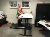 S670 met Walkdesk  | kies voor een gezonde werkplek bezoek Worktrainer.nlSolo