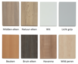Verschillende kleuren werkbladen