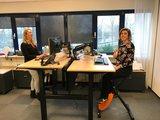 S2H dubbel zit-sta bureau met Deskbike