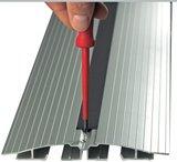 aluminium vloergoten Worktrainer.nl voor alle accessoires bij je zit sta bureau