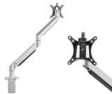 Monitorarm zilver | accessoires voor je werkplek bezoek Worktrainer.nl
