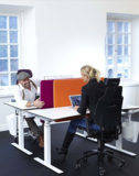 Tafelscherm Slide akoestisch alle accessoires bij je zit-sta bureau koop je online bij Worktrainer.nl