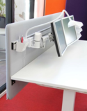 Tussenscherm sterk alle accessoires bij je zit-sta bureau koop je online bij Worktrainer.nl