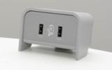 Chip on desk zilvergrijs   accessoires voor je werkplek bezoek Worktrainer.nl