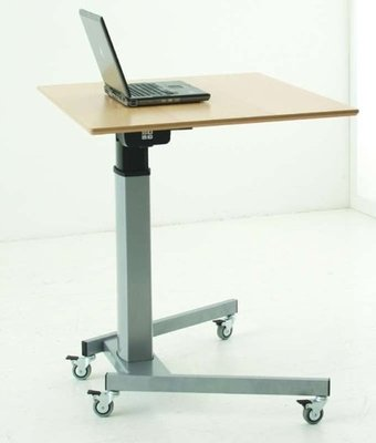 Sit-stand table 501-19 - Wirelessly adjustable, with wheels