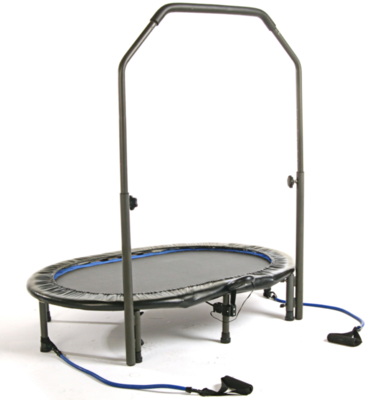 Trampoline OVAAL InTone® with Arm muscle Trainers