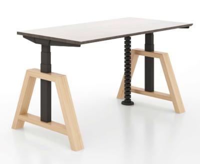 Oak Desk sit-stand desk - Memory Master