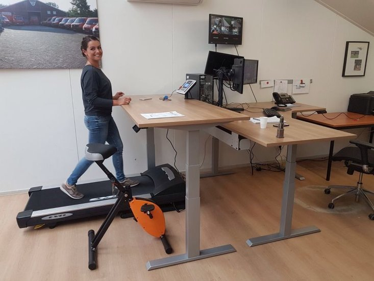 Treadmill with Electric Sit-Stand Desk - Walkdesk XL