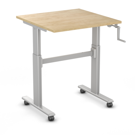 Small Manual Sit-Stand Desk - SteelForce100