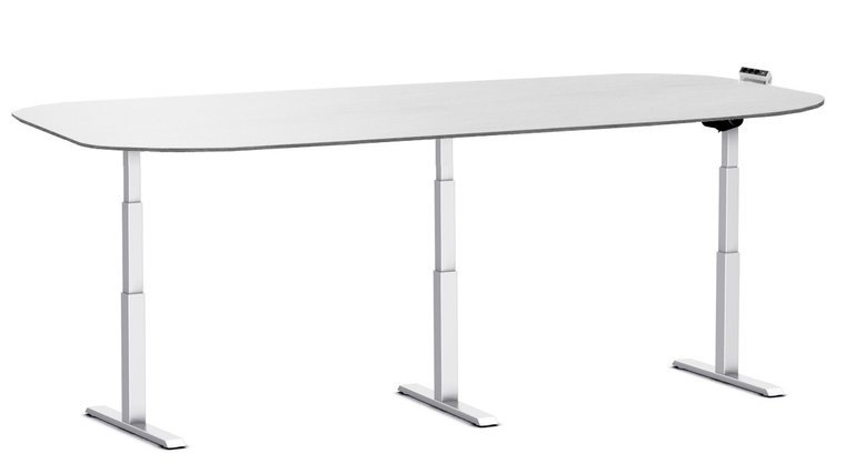 Electric 3 legs Sit-stand conference table - SteelForce 675