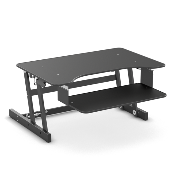 Gas Spring Sit-Stand Desk Converter - UPdesk Basic