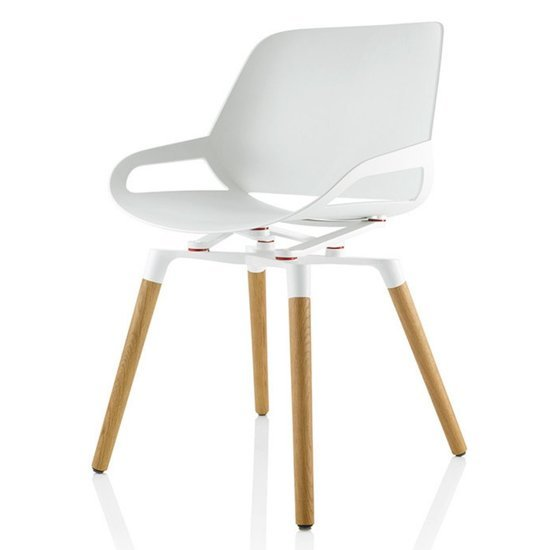 Active design chair - Numo with Wooden legs