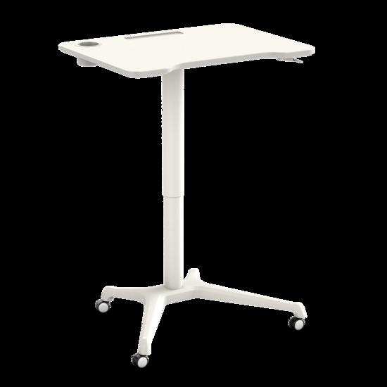 Small Gasspring Sit-Stand Desk - Single Leg Desk