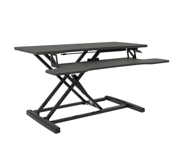 Gas Spring Sit-Stand Desk Converter - UPdesk Cross Small
