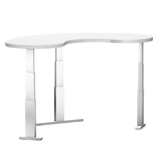 Electric Sit-Stand Corner Desk - Elements Liquid