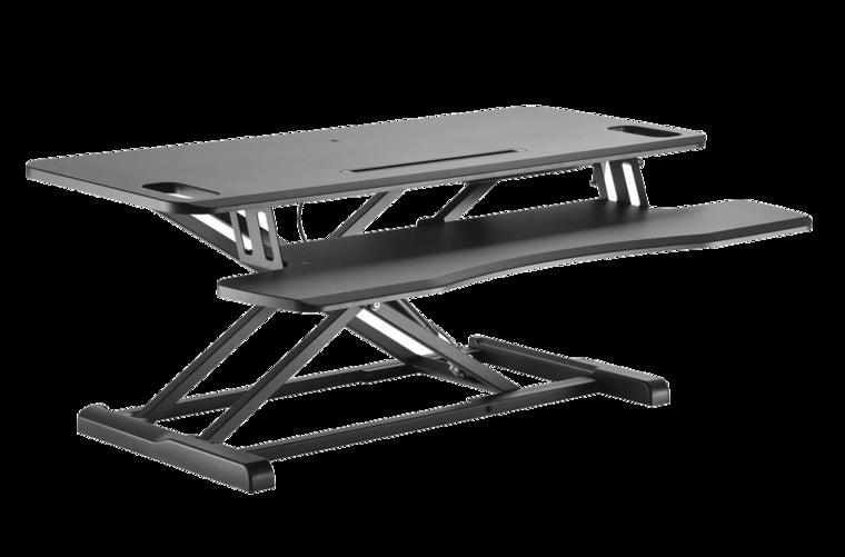 Gas Spring Sit-Stand Desk Converter - UPdesk Cross Large