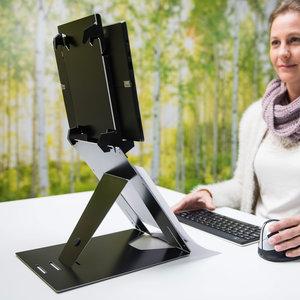 R-Go Riser Duo Laptopstandaard en Tabletstandaard in 1 | Accessoires voor je werkplek | Worktrainer.nl