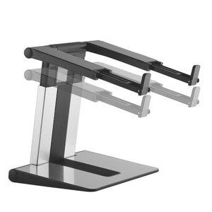 Laptop verhoger en laptopstandaard in hoogte verstelbaar | Accessoires voor je werkplek | Worktrainer.nl