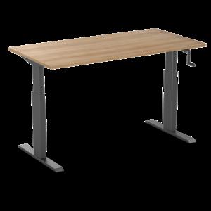 Aluforce 140 handmatig verstelbaar bureau    wissel staan en zitten achter je bureau af   Worktrainer.nl