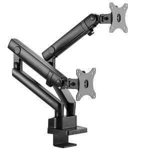 Lumi Monitorarm Dubbel Gasveer | accessoires voor je werkplek bezoek Worktrainer.nl